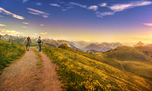 mountains alps nature switzerland outdoor hiking path... (Photo: Chrisnaton on Flickr)