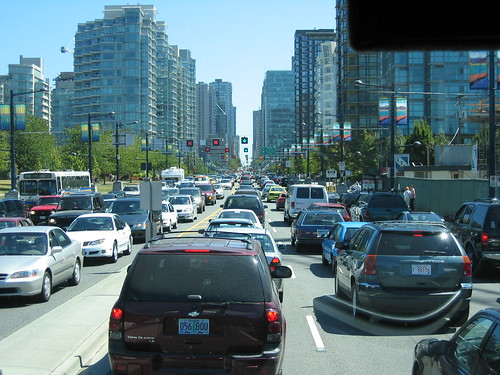 Traffic in Vancouver