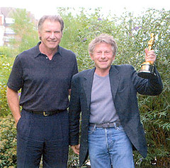 Polanski presumiendo de Oscar