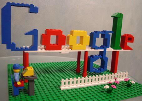 Google Logo in Lego