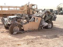 Destroyed Humvee in Iraq