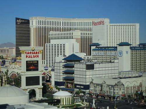 Vegas strip, looking north