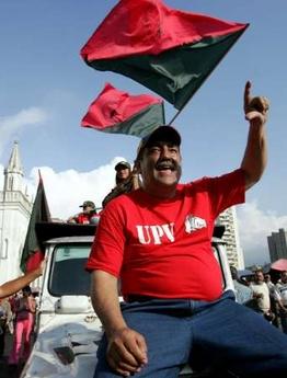 Una manifestación pro-oficialista (chavista, a secas)