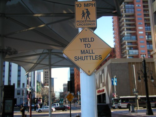 Yield To Mall Shuttles