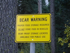 Bear Warning [Yosemite National Park]