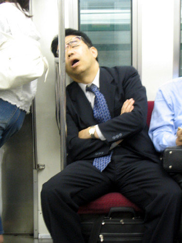 Exhausted Salaryman by hiromy.