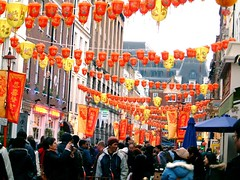 Walk into Chinatown to see the laterns