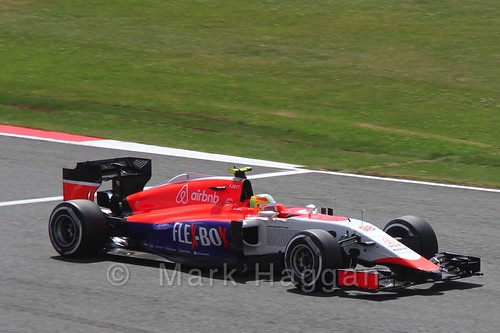 Roberto Merhi in qualifying for the 2015 British Grand Prix at Silverstone