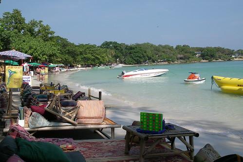 typical beach scene
