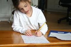 Alyssa doing homework(1)
