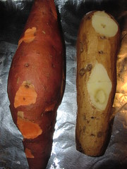Yam vs. sweet potato