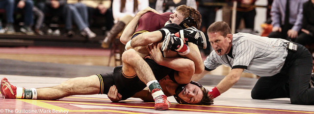 133: No. 4 Cory Clark (Iowa) dec No. 15 Mitch McKee (Minn), 10-3 | Minn 8 – Iowa 27