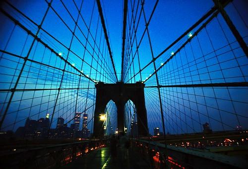 Brooklyn Bridge Blue by Dave Kliman