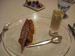 Vanilla-stick roasted pineapple with Pina Colada mousse.