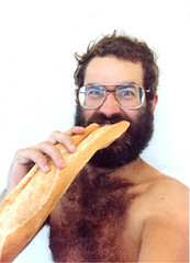 James Eating Bread