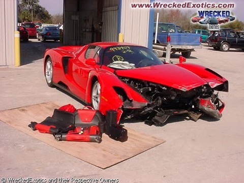 Exotic Car Crash by Wasim Ahmad.
