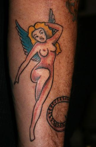 PinUp Girl Angel Tattoo