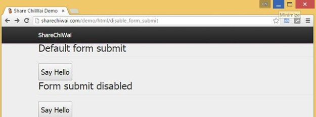 HTML5 Form Submit  Demo