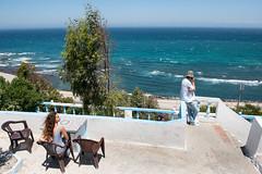Tea shop next to the ocean