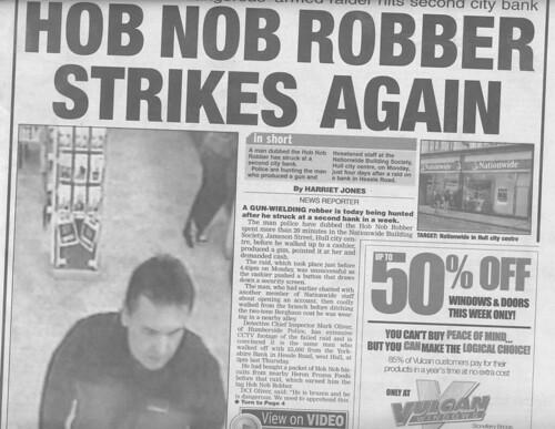 Hob nob robber strikes again