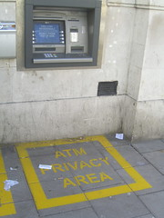 ATM Privacy Area, by Cackhanded. CC via Flickr