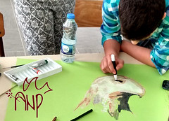 Kids drawing Peace Eagle