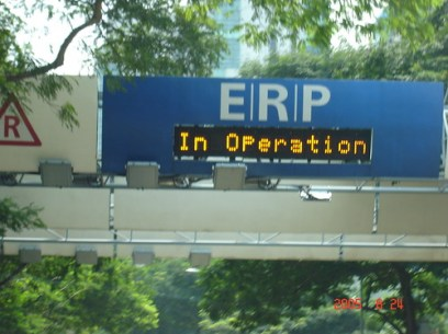 Singapore ERP Rates Up by 7th July 2008