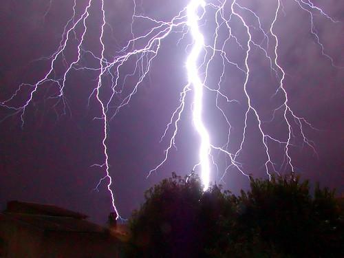 CG lightning strike