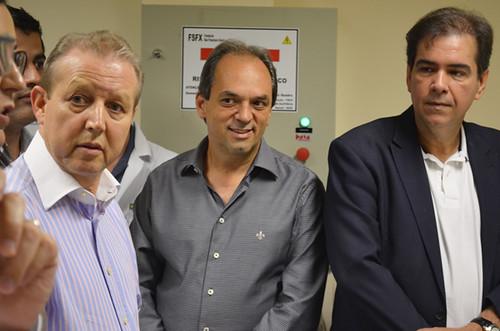 José Maria Facundes, Mauro Oscar Lima e Luciano Araújo - Instalações da Unidade de Oncologia do Hospital Márcio Cunha - Foto Emmanuel Franco  (2)