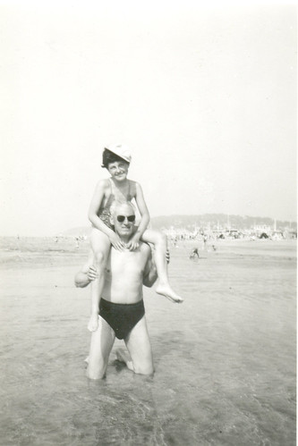 1954 on my dad's shoulders