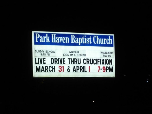 Live Drive Thru Crucifixion at Park Haven Baptist Church, Laurel MS