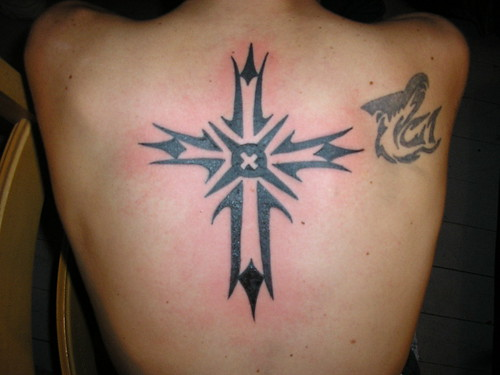 Tribal cross tattoos designs 2