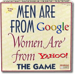Men are from Google, Women are from Yahoo!
