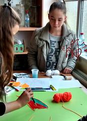 Girls Doing Handcraft