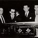 Velorio de Portinari, vendo-se seu filho Joao Candido ao lado do presidente Juscelino Kubitschek. Rio de Janeiro, 1962.