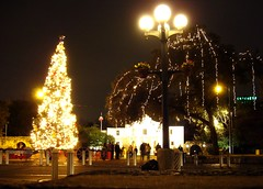 Alamo Plaza w/Christmas Tree