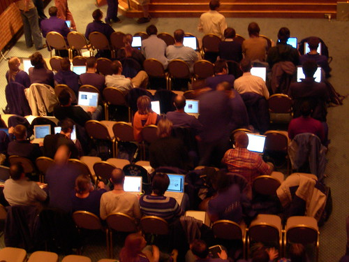Get those laptops out its conference season?