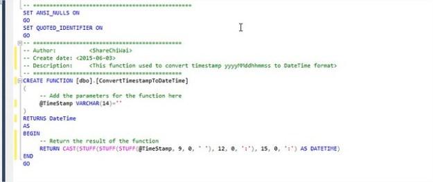 TSQL Convert TimeStamp to DateTime function