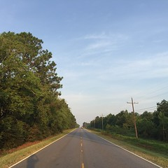The Road Ahead. Day 116. Rt. 90 in Midland, LA. Wasn't able to fall asleep until around 11 last night because it was so hot. Gonna be another scorcher today, considering night-walking. #theworldwalk #travel #wwtheroadahead