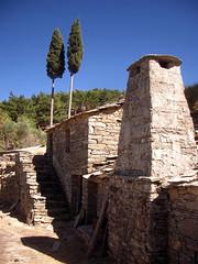 Ikaria 005 (isl_gr (Mnesterophonia)) Tags: chimney house architecture beautyconcealed ikaria  aegean replacement greece theisland  cypres hikingtrails hikingikaria  canyonwind geniiloci top20greece