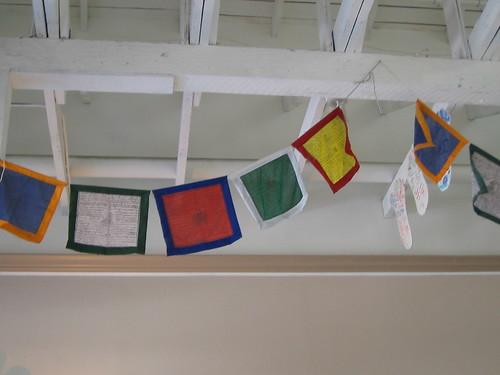 Prayer flags at Tibet Nepal House