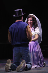 Justin Matthew Sargent as Tony and Carolann M. Sanita as Maria in West Side Story, produced by Music Circus at the Wells Fargo Pavilion August 4-9, 2015. Photo by Charr Crail.