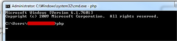 PHP Command Successfully set up on Windows machine