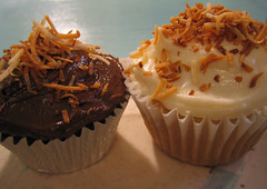 chocolate & vanilla vegan coconut cupcake by you can count on me