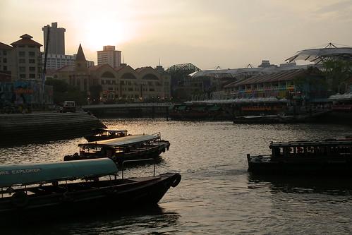 singapore rive at dusk