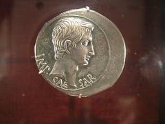 Roman Coin with Augustus (Octavian)