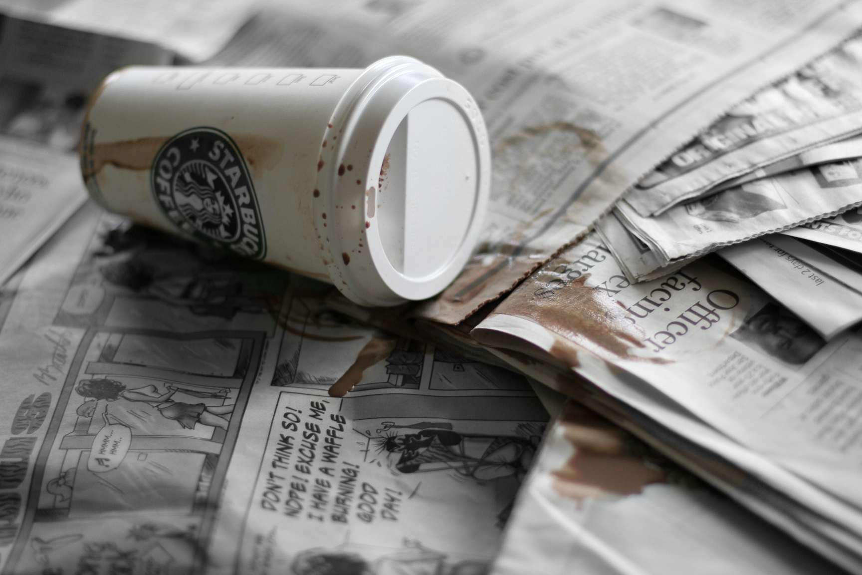 Image result for spilled coffee