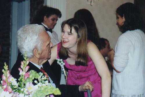 02/12/2000 - Vicky & Grandpa at Carolyn's wedding