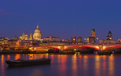 The City of London at Twilight on Tuesday 28 February (20 minutes later)