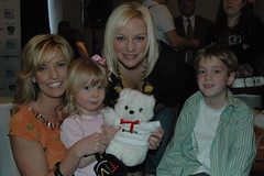 Point of Grace shares the Bear with their kids...